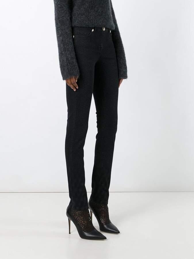 Class Roberto Cavalli animalier print skinny jeans