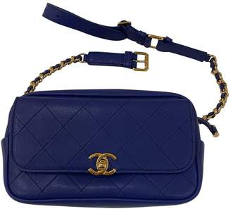 Chanel Timeless/Classique Blue Leather Clutch bags