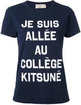 MAISON KITSUNÉ front print T-shirt - women - Cotton - S