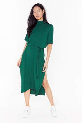 Nasty Gal Womens Tee Bt Belted Midi Dress - Red - 4