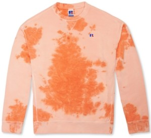 Russell Athletic Men's Slim-Fit George Garment-Dyed French Terry Sweatshirt