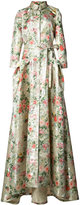 Carolina Herrera flower trench gown - women - Silk/Polyester - 14