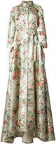 Carolina Herrera flower trench gown - women - Silk/Polyester - 14