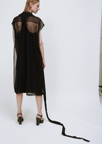 Jil Sander black dalmazia sheer dress