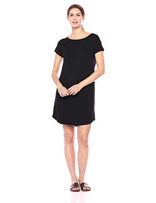 Daily Ritual Women's Supersoft Terry Dolman-Sleeve Boat-Neck Dress,S