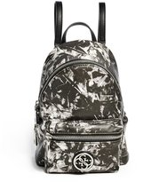 GUESS Leeza Marble-Print Mini Backpack