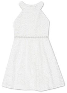 Speechless Toddler Girls Glitter Lace Dress