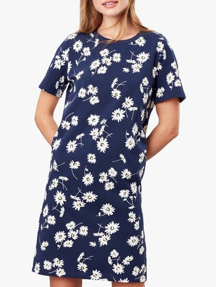 Joules Liberty A Line Daisy Print Mini Dress, Navy/Multi
