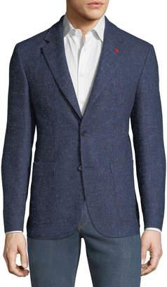Alberto Morello Men's Wool-Twill Patch-Pocket Sport Coat