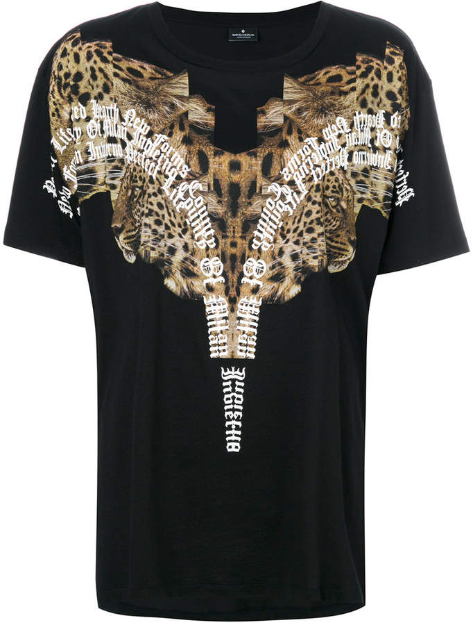 Marcelo Burlon County of Milan leopard shoulder print T-shirt