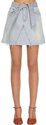 Givenchy Super Bleach Mini Skirt W/ Back Logo