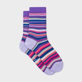 Paul Smith Women's Purple Multi-Stripe Socks