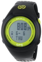 Soleus Unisex SG100351 GPS Fit 1.0 Lime and Black Resin Digital Watch