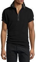 Givenchy Cuban-Fit Zipper-Collar Polo Shirt