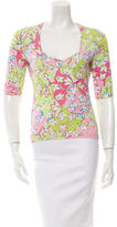 Emilio Pucci Printed Scoop Neck Top w/ Tags