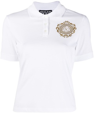 Versace Jeans Couture Logo Print Polo Shirt