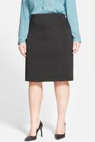 Vince Camuto Back Zip Pencil Skirt (Plus Size)