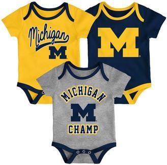 NCAA Baby Michigan Wolverines Champ 3-Pack Bodysuit Set