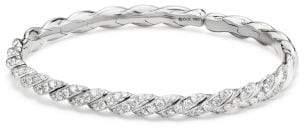 David Yurman Paveflex Bracelet With Diamonds In White Gold