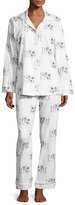 BedHead Exclusive Glamping Long-Sleeve Classic Pajama Set, White Pattern
