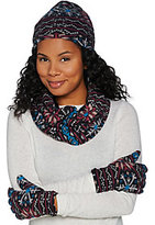 Cuddl Duds Fleecewear & Micro Plush Reversible Hat, Gloves, & Scarf