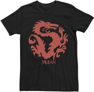 Dragon Optical Licensed Character Men's Disney Mulan Mushu Symbol Tee