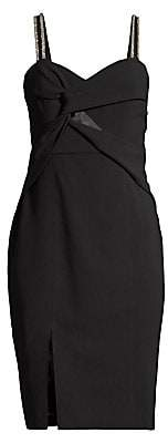 Parker Black Women's Lazaro Embellished Twist-Front Dress