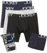 Jockey Men's 4 Pack Active Stretch Midway Briefs