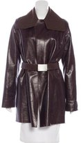 Chanel Cashmere-Lined Leather Coat