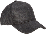 David & Young Black Glitter Baseball Cap