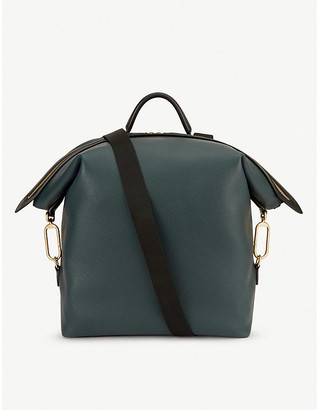 Smythson Clip Down grained leather backpack