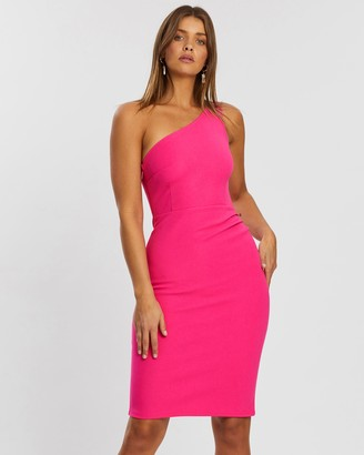 Atmos & Here Mia One-Shoulder Gathered Dress