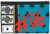 Dolce & Gabbana playing card print wash bag