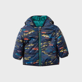 Paul Smith Baby Boys' Navy Car Print Reversible Hooded Jacket