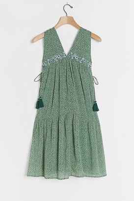 Aida Embroidered Mini Dress