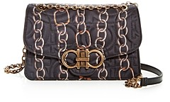 Salvatore Ferragamo Large Gancini Quilted Chainlink Crossbody