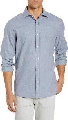 Hartford Paul Regular Fit Button-Up Flannel Shirt