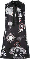 Giamba abstract print mini dress