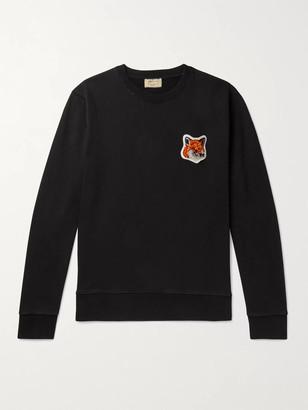 MAISON KITSUNÉ Logo-Appliqued Loopback Cotton-Jersey Sweatshirt