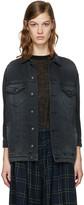 R 13 Black Denim Trucker Jacket