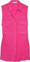 Equipment Signature washed-silk sleeveless shirt