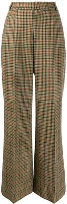 J&M Davidson glen plaid trousers