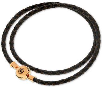 Rhona Sutton Charm Holder Leather Wrap Bracelet