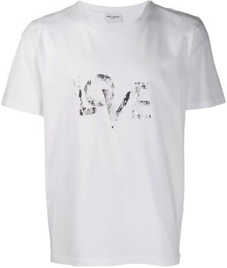 Saint Laurent Love printed T-shirt