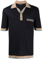 Dolce & Gabbana contrasting-details short-sleeved polo shirt