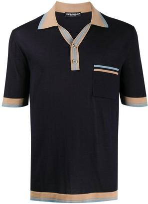 Dolce & Gabbana Contrasting-Details Short-Sleeved Polo Shirt