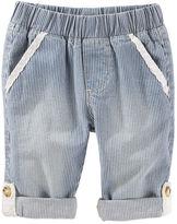 Osh Kosh Pull-On Convertible Hickory Stripe Pants