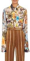 Acne Studios Women's Buse Floral Charmeuse Blouse