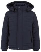 BOSS Navy Puffa Coat with Hood