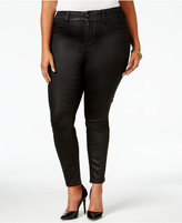 Melissa McCarthy Trendy Plus Size Coated Colored Wash Jeans